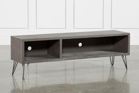 Melrose Titanium 65 Inch Lowboy TV Stand