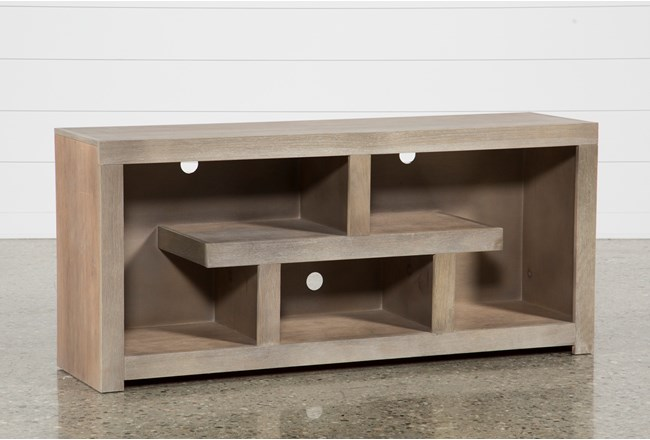 Living Spaces Tv Stand : Walton Grey 60 Inch TV Stand  Living Spaces