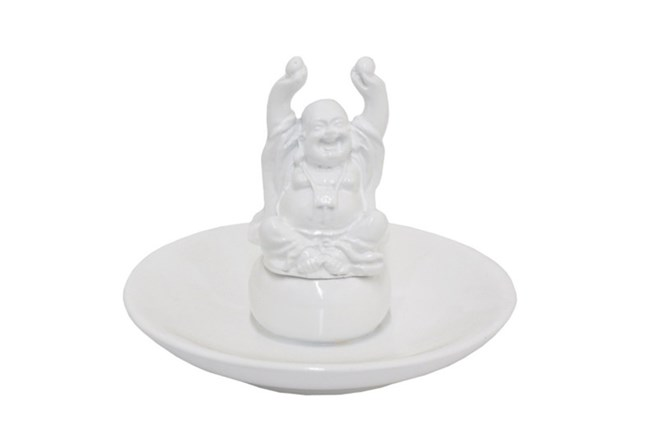 White Buddha Ring Holder - 360