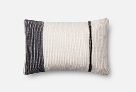 Accent Pillow-Magnolia Home Navy/White Asymmetrical Stripe 13X21 By Joanna Gaines