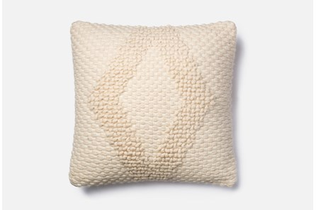 Accent Pillow-Magnolia Home Ivory Diamond Boucle 22X22 By Joanna Gaines - Main