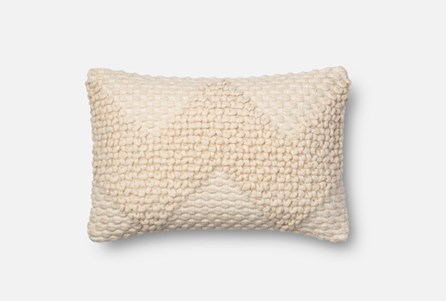 Accent Pillow-Magnolia Home Ivory Chevron Boucle 13X21 By Joanna Gaines