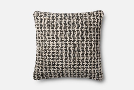 Accent Pillow-Magnolia Home Black/White Tweed 22X22 By Joanna Gaines