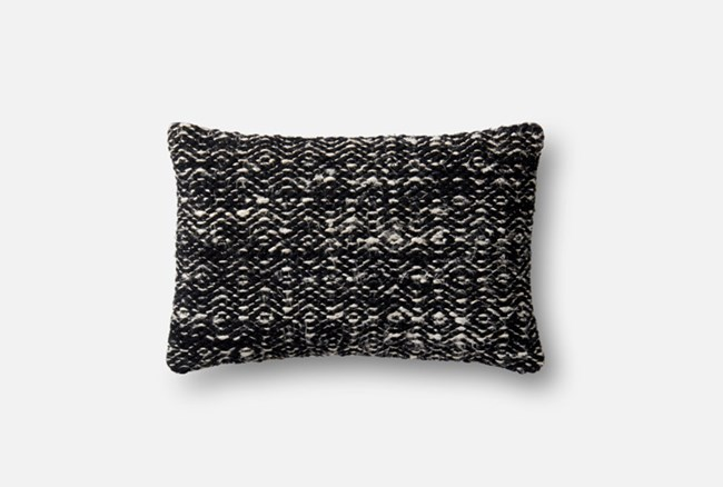 Accent Pillow-Magnolia Home Black Diamond 13X21 By Joanna Gaines - 360