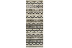 "2'3""x7'5"" Rug-Southwest Stripes Charcoal"