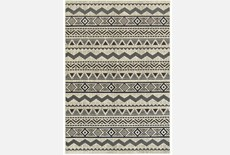 "3'8""x5'4"" Rug-Southwest Stripes Charcoal"