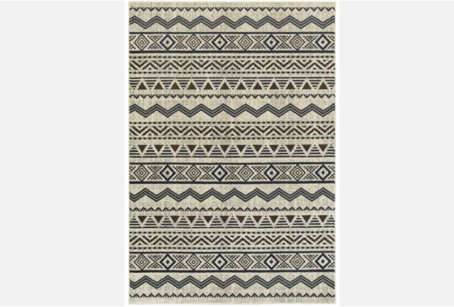 46X65 Rug-Southwest Stripes Charcoal - 360