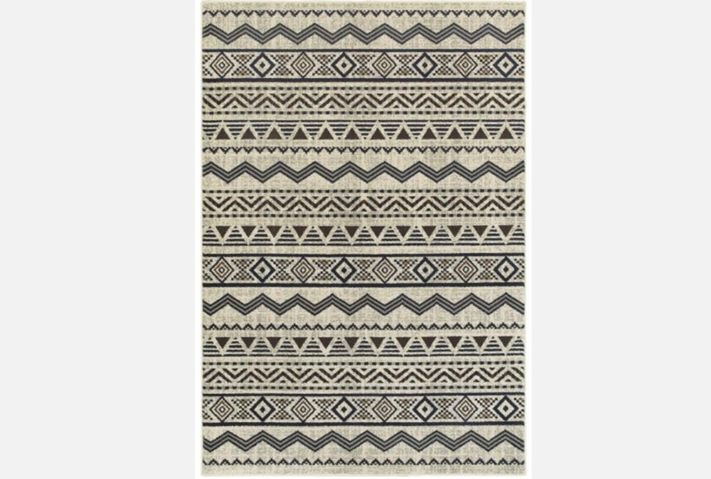 "6'6""x9'5"" Rug-Southwest Stripes Charcoal"