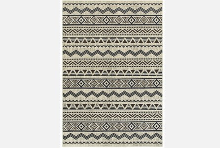 79X114 Rug-Southwest Stripes Charcoal