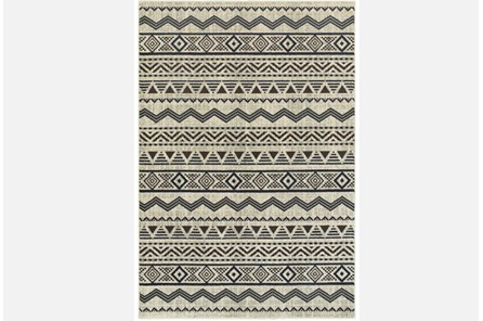 94X130Rug-Southwest Stripes Charcoal