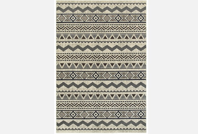 118X154 Rug-Southwest Stripes Charcoal - 360