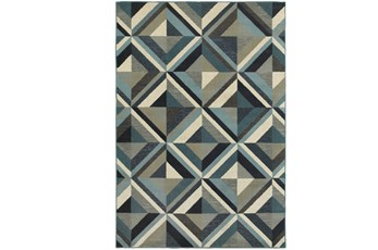 22X36 Rug-Retro Diamonds Blue