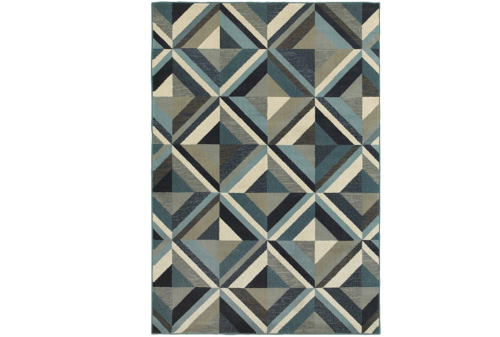 "6'6""x9'5"" Rug-Retro Diamonds Blue"