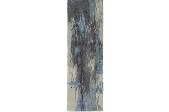 "2'5""x8' Rug-Matiz Blue/Grey"
