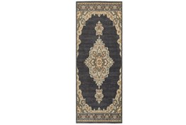 27X90 Rug-Omari Medallion Blue