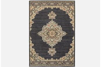 46X65 Rug-Omari Medallion Blue