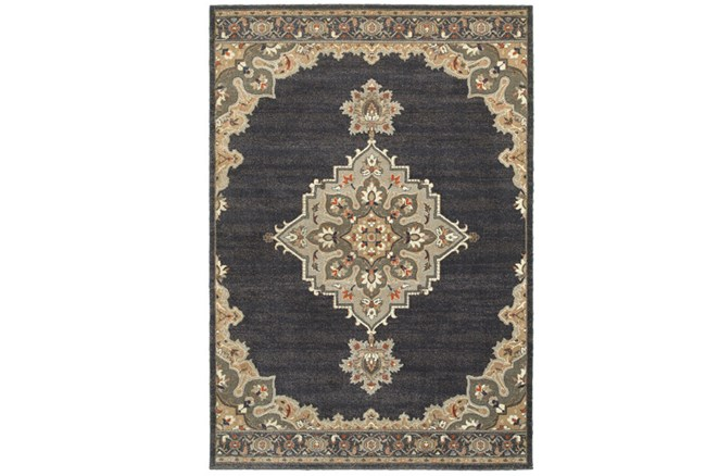 63X90 Rug-Omari Medallion Blue - 360