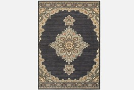 79X114 Rug-Omari Medallion Blue