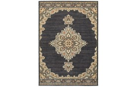 94X130 Rug-Omari Medallion Blue
