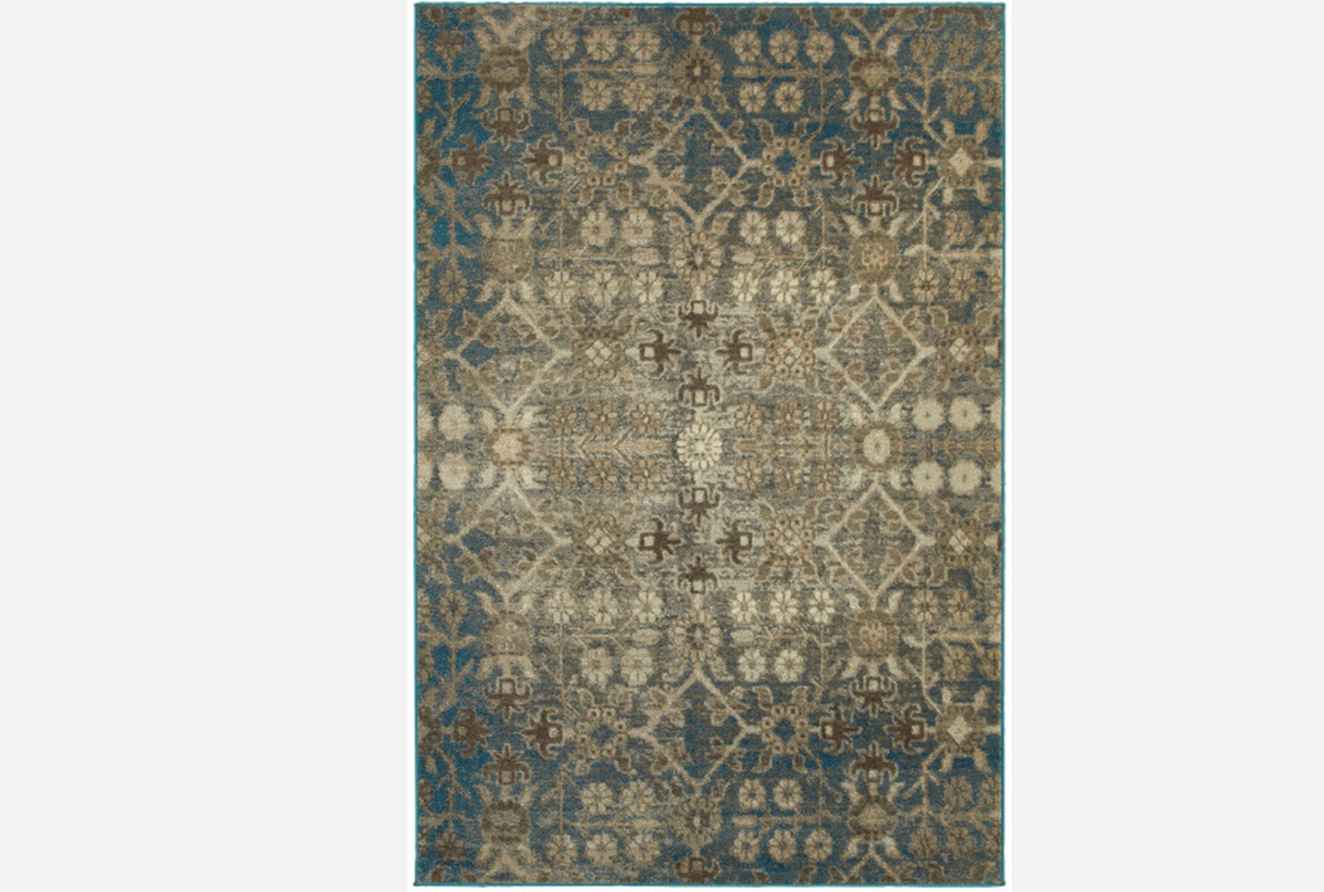 94x130 Rug Thomas Blue Living Spaces