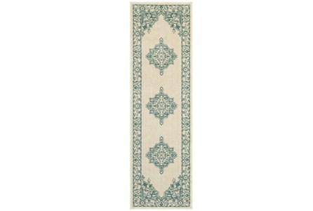 27X90 Rug-Soraya Medallion Turquoise