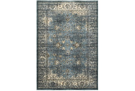 27X90 Rug-Valley Tapestry Blue