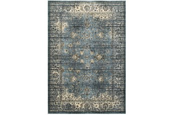 46X65 Rug-Valley Tapestry Blue