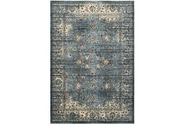 """3'8""""x5'4"""" Rug-Valley Tapestry Blue"""