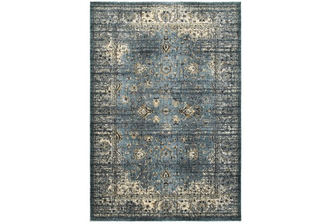 63X90 Rug-Valley Tapestry Blue - 360