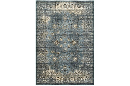 79X114 Rug-Valley Tapestry Blue - Main