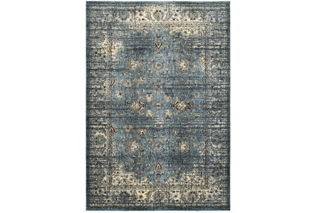 94X130 Rug-Valley Tapestry Blue - 360