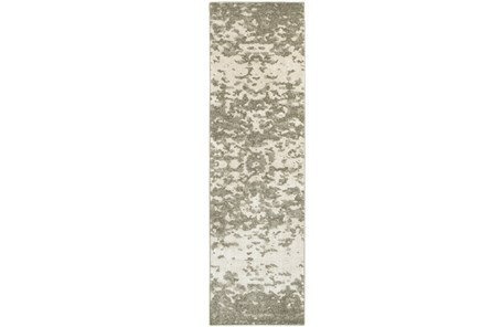 27X90 Rug-Xandra Spotted Light Grey