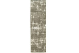 27X90 Rug-Xandra Brushed Grey