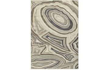 46X65 Rug-Xandra Swirl Light Grey
