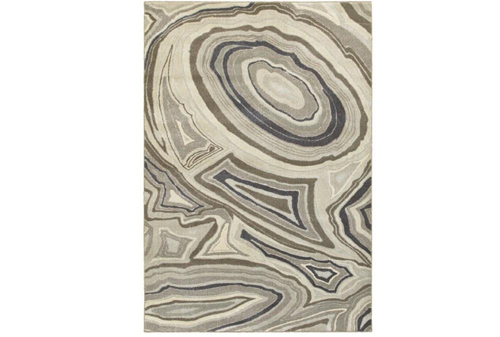 63X90 Rug-Xandra Swirl Light Grey