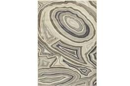94X130 Rug-Xandra Swirl Light Grey