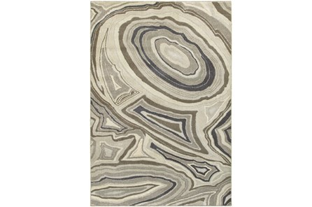 118X154 Rug-Xandra Swirl Light Grey