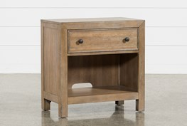 """Conrad Open 29"""" Nightstand With USB"""