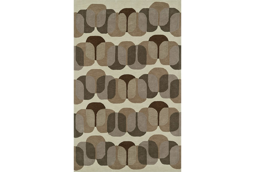 42X66 Rug-Mod Squares Brown