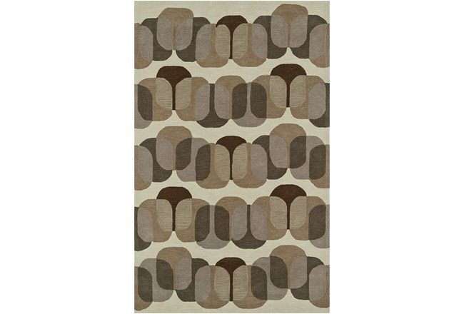 42X66 Rug-Mod Squares Brown - 360
