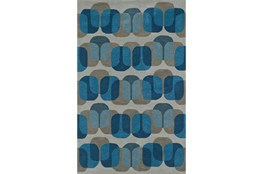 42X66 Rug-Mod Squares Silver/Blue