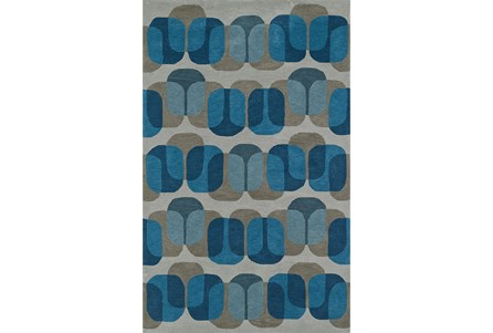 60X90 Rug-Mod Squares Silver/Blue