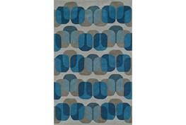 96X120 Rug-Mod Squares Silver/Blue