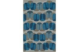 108X156 Rug-Mod Squares Silver/Blue