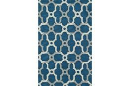 96X120 Rug-Presley Quatrefoil Baltic Blue