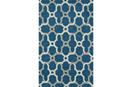 108X156 Rug-Presley Quatrefoil Baltic Blue