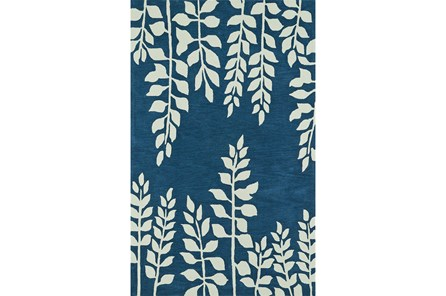 108X156 Rug-Modern Fern Baltic Blue