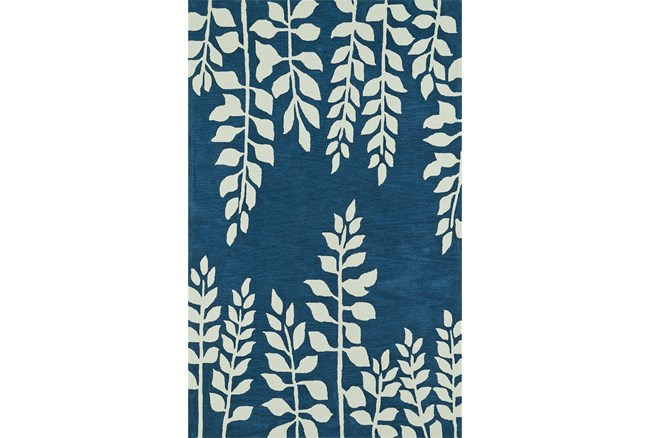 108X156 Rug-Modern Fern Baltic Blue - 360