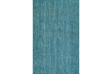 42X66 Rug-Wool Tweed Denim