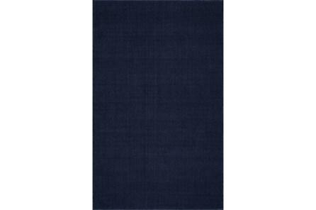60X96 Rug-Wool Sisal Grid Navy